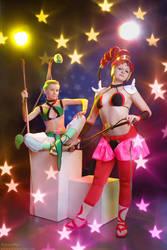 Sailor Moon: JunJun and VesVes by gorlitsa