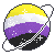 Nonbinary Pride Planet by SpacedAliien
