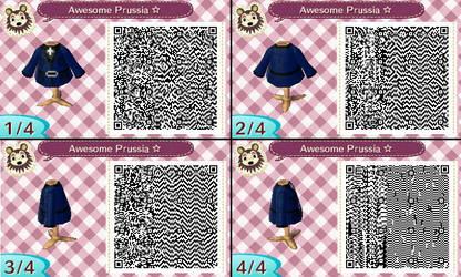 Animal Crossing NL- Hetalia Prussia QR by hearts2love16