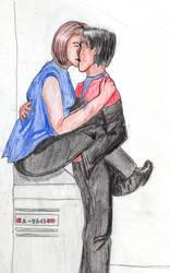 Janeway and Chakotay by camir