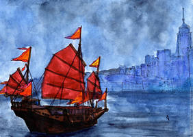 Hong Kong, Victoria Harbour by Vokabre
