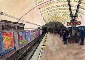 Novosibirsk, Lenin Square Station by Vokabre