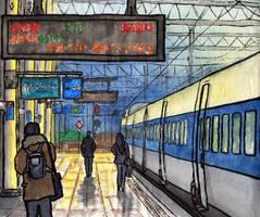 Seoul. KTX train to Busan by Vokabre