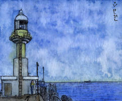 Incheon. Lighthouse on Wolmido Island by Vokabre