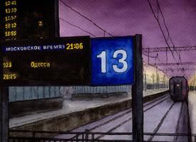 Moscow, Kiev Rail Terminal by Vokabre