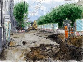 ...Rozhdestvensky Blvd. and Maly Kiselny Lane by Vokabre