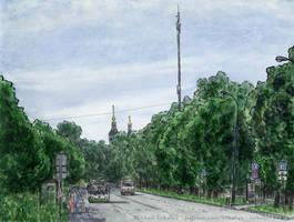 Krasny Kazanets Street (where a highway will be) by Vokabre