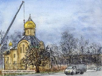 Typical project church under construction by Vokabre