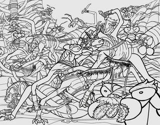 Insectoid Battle WIP 3 by frazamm