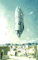 Starship Landing by Prasa
