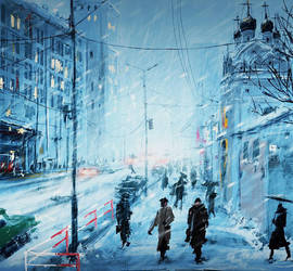 Speedpaint: Moscow Winter by Prasa