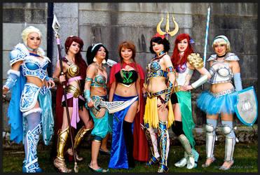 Disney Battle Princesses by Pompay