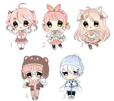 [CLOSED,TY] SET PRICE ADOPTABLES by Shika-Adopts