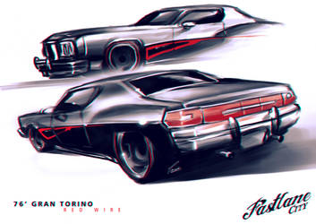 Doodle - Red Wire Torino by Adry53