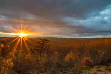 Sunset over Bald Eagle State Forest by kyleshikes