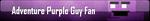 Adventure Purple Guy Fan Button by AmetrineDragon