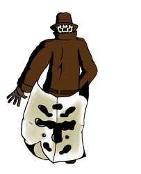 Rorschach Walking Away (colored) by kiarasa