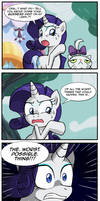 Rarity's calm and collected solution by CrimsonBugEye