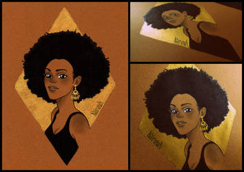 Gold and Afro by Naineuh