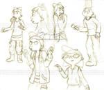 Hey Arnold sketches by genaminna