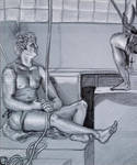 Two guys, lol -- Life Drawing by genaminna