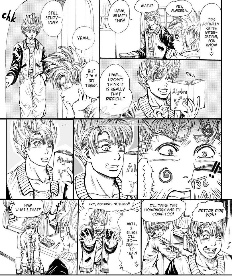 Goku vs. Math by genaminna