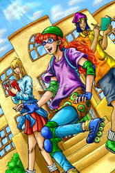 Pepper Ann- Much Too Cool for 7th Grade (my style) by genaminna