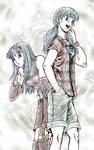 Twinsies: Saiya and Bra-- Gifrtart for Emiruchan by genaminna
