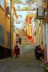 A Street In Ayvalik 4. by bigzoso