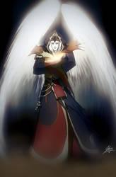 Archangel Azri'el by GrimweaverArt