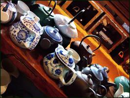 Teapots IV by redmatilda