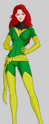 Jean Grey as Phoenix final by Mr-Greeley