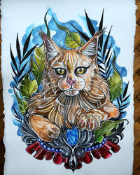 Maine Coon portrait by Albi777