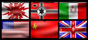 WW2 ponified flags by FluttzKrieg