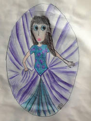 Princess Amethyst Twirls by nelehjr