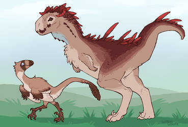 Dino Buds by whitekitestrings