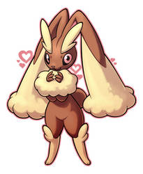 Lopunny by whitekitestrings
