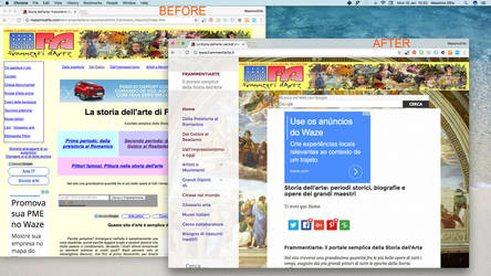 Website-restyle-Fremmanetiarte-before-after by lizardhr