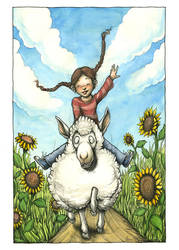 Sheep Ride by Nimrais