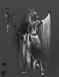 Shamanistic Invoker idea by tealover007