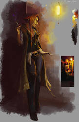 Modern Sorceress - Speed Paint by tealover007
