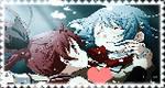 Kyoko X Sayaka - Stamp by AGirlFromDistrict3