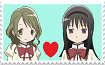 Hitomi X Homura Stamp by AGirlFromDistrict3