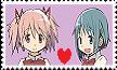 Madoka X Sayaka Stamp by AGirlFromDistrict3