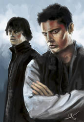 Sam and Dean by MikaLittlewolf
