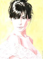 Anne Hathaway by emalterre