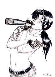 Black Lagoon's Bottle by emalterre