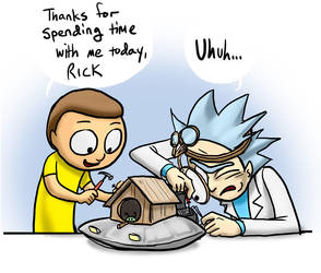 Rick and Morty Birdhouse by jameson9101322