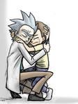 Rick and Morty Hug by jameson9101322