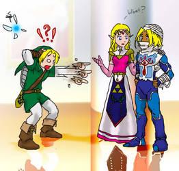 Sheik and Zelda by jameson9101322